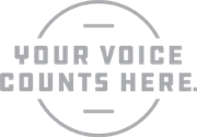 your voice counts here