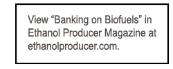 Banking on Biofuels at Ethanol Mag
