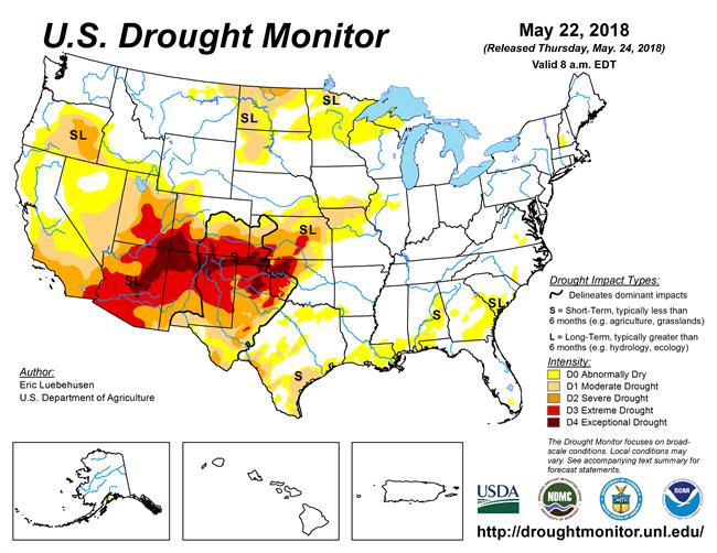 drought map 5-22-2018